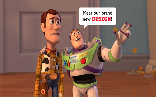 Why redesigns don't make users happy